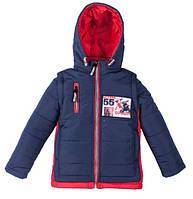 Демисезонная куртка-трансформер Рэй синий+красный (4-7 лет)