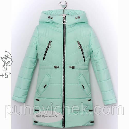 Детскую куртку для девочки удлиненную весеннюю