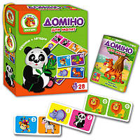 Дитяче доміно Зоопарк (укр) Vladi Toys (VT2100-04)