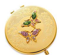 Зеркальце карманное со стразами Бабочки WIN- 13