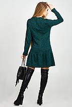 Женское теплое платье с жемчугом (Дина leo), фото 3