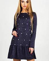 Женское теплое платье с жемчугом (Дина leo), фото 2