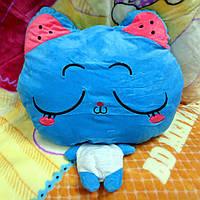 Плед - мягкая игрушка 3 в 1 (Котик синий)