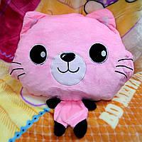 Плед - мягкая игрушка 3 в 1 (Котик розовый)