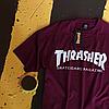 Футболка Thrasher Skateboard. Бирки оригинальные. Бордовая мужская