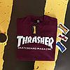 Футболка Thrasher Skateboard. Бирки оригинальные. Бордовая мужская, фото 3