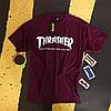 Футболка Thrasher Skateboard. Бирки оригинальные. Бордовая мужская, фото 2