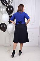 Красивое модное платье клеш для пышных форм