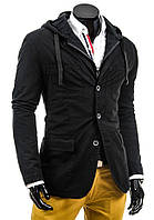 Мужская куртка-пиджак с капюшоном