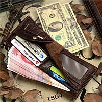 Мужской кожаный кошелек из натуральной кожи(В наличии коричневый), фото 4