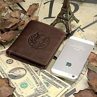 Мужской кожаный кошелек из натуральной кожи(В наличии коричневый), фото 5