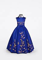 Детское нарядное платье синего цвета