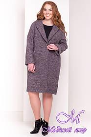 Свободное демисезонное пальто больших размеров (р. XL, XXL, XXXL) арт. Арсина Донна 4451 - 21635