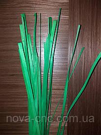 Шпон смужки дерев'яні плоскі (зелений колір)