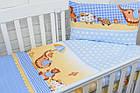 Сменная детская постель Asik Слоник с зонтиком голубого цвета 3 предмета (3-199), фото 2