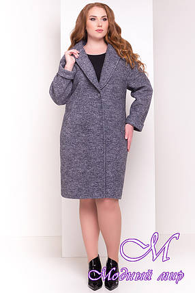 Женское демисезонное пальто больших размеров (р. XL, XXL, XXXL) арт. Арсина Донна 4451 - 21631, фото 2