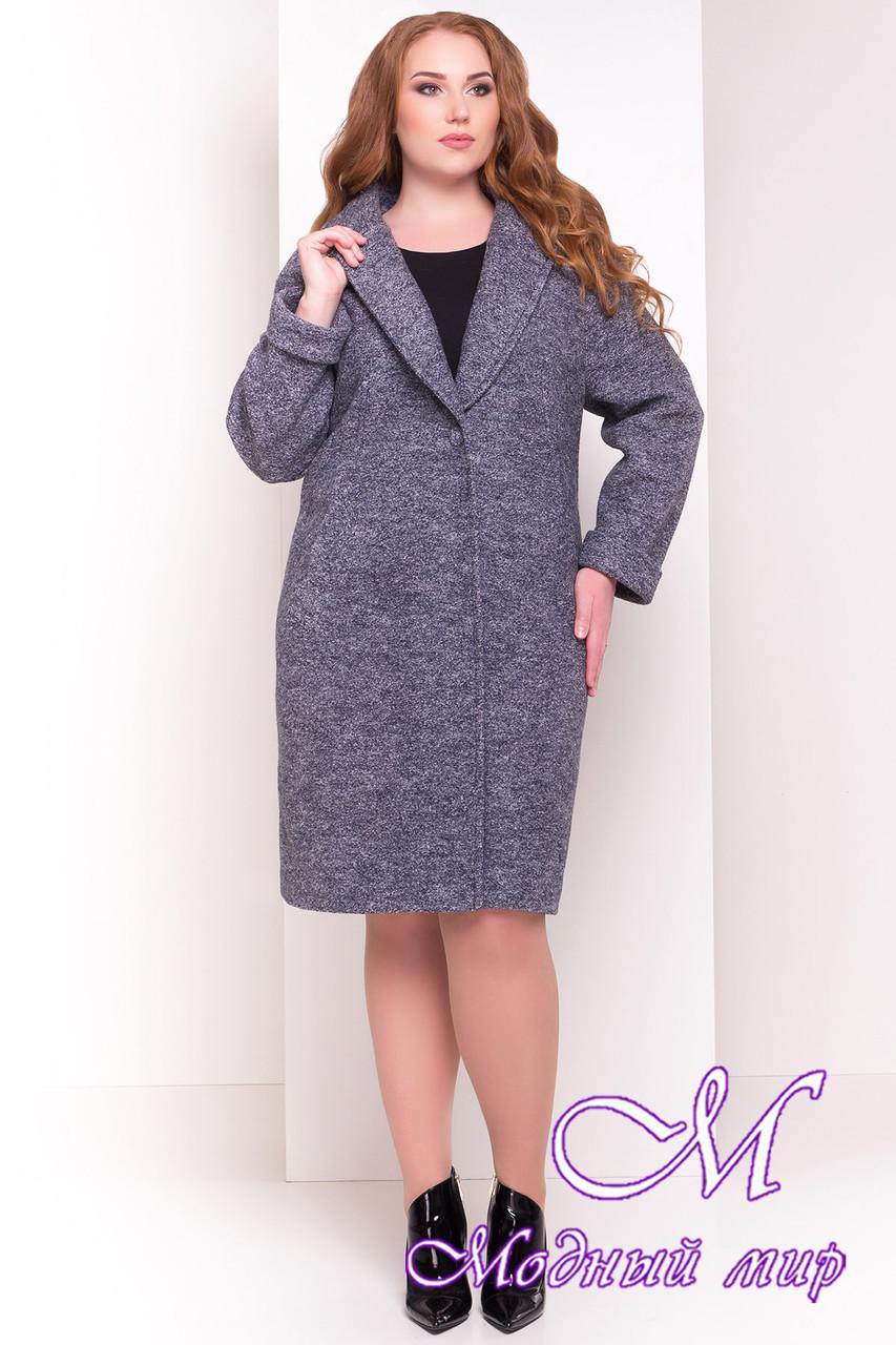 Женское демисезонное пальто больших размеров (р. XL, XXL, XXXL) арт. Арсина Донна 4451 - 21631