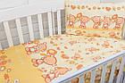 Сменная детская постель Asik Мишка с цветочком желтого цвета 3 предмета (3-170), фото 2