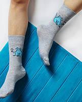 Шкарпетки Soberay «Strange animals/Cat» Дивні тварини/Кіт(з вином сірі)