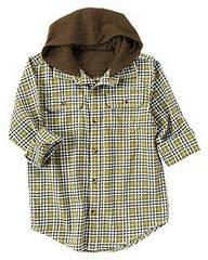 Рубашка фланелевая с капюшоном   Crazy8 (США)  (Размер S (5-6 лет)