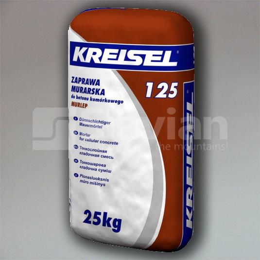 Клеевая смесь Kreisel «PORENBETON-KLEBER 125», 25кг