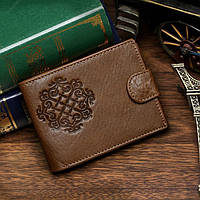 Мужской кожаный кошелек. Мужское портмоне(В наличии коричневый)