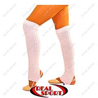 Гетры для танцев разогревочные CO-9312-08 (акрил, l-60см, пудра)