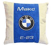 Автомобильная подушка с маркой авто bmv бмв