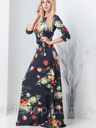 a5f2772ffc0 Женское трикотажное платье в пол с цветам (Агнес принт mrb) купить ...