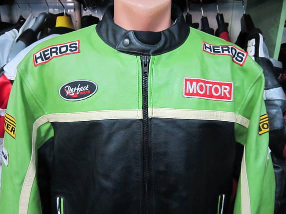 Мотокуртка бу кожа  HEROS, фото 2