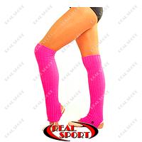 Гетры для танцев разогревочные CO-9312 розовые