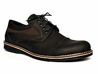 Туфли мужские кожаные Rosso Avangard Winterprince Polystreet черные