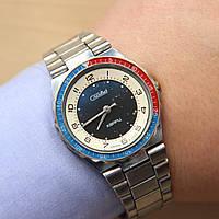 Слава Кварц кварцевые часы с браслетом СССР , фото 1