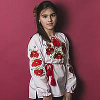 """Детская сорочка вышиванка для девочки """"Ангелина"""", фото 1"""
