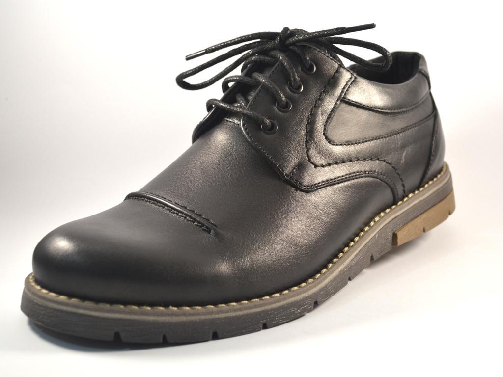 Полуботинки мужские кожаные Rosso Avangard Winterprince Leather Street черные