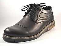 Полуботинки мужские кожаные Rosso Avangard Winterprince Leather Street черные, фото 1