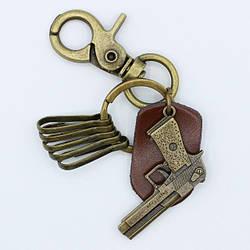 Брелок (ключница) мужской Пистолет (мин заказ 10 ед)