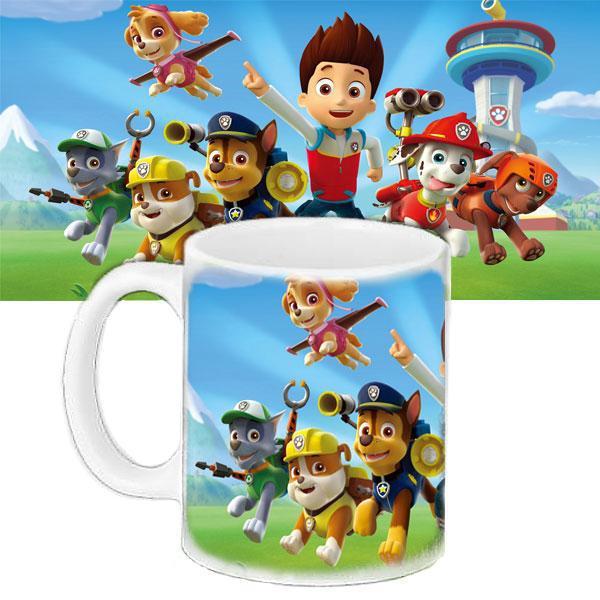 Детская чашка с принтом Щенячий патруль