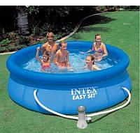Бассейн для плавания с насосом Intex