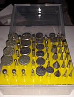 Набор алмазных фрез (боров) для гравера  YDS, 50 шт мелкая фракция