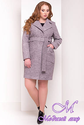 Красивое демисезонное пальто больших размеров (р. XL, XXL, XXXL) арт. Габриэлла Донна 4554 - 21943, фото 2