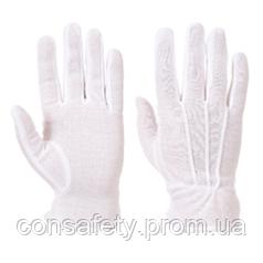 Перчатки A080 шитые с ПВХ микроточкой