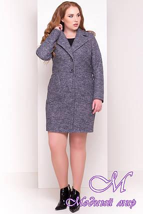 Красивое весеннее пальто больших размеров (р. XL, XXL, XXXL) арт. Габриэлла Донна 4554 - 21941, фото 2