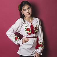 """Детская сорочка вышиванка для девочки """"МАК-2"""", фото 1"""