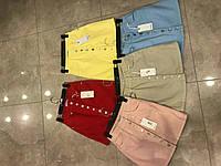 Яркая, модная, джинсовая мини-юбка на пуговицах спереди. Турция!!! РАЗНЫЕ ЦВЕТА