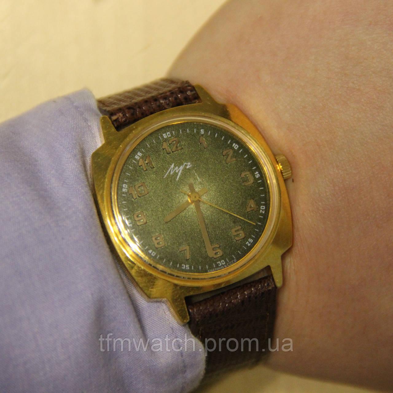 Луч наручные механические часы СССР, фото 1