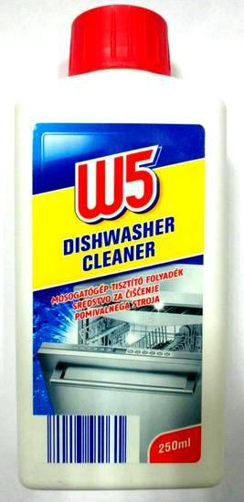 W5 Dishwasher Cleaner для очистки посудомоечной машины 250 мл