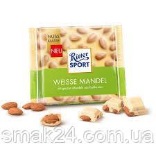 Шоколад Ritter Sport Weisse Mandel (цельный миндаль) Германия 100г