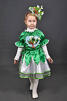 Детский карнавальный костюм Подснежник для девочки. Дитячий костюм Пролісок