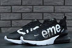 Кросівки чоловічі Nike Air Max 270 Supreme чорні топ репліка